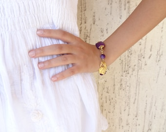 Amethyst Turkish Silk Bracelet - Purple Bracelet