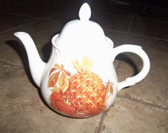 Vintage Antique House of Goebel ceramic Teapot Fruit pineapple Staffordshire England