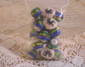 Green Ceramic Tribal Themed Beads