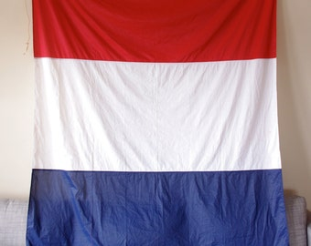 Large Red, White, and Blue Nautical Flag