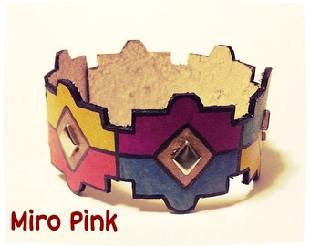 Cuff Bracelet With Tribes With Studs