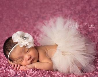 Newborn Tutu, Baby Tutu, Tutu Set, Ivory Tutu, Newborn Tutu Set, Ivory Newborn Tutu, Tutu, Photo Prop, Newborn Photo Prop, Girls Tutu