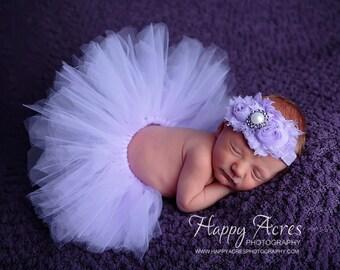 Newborn tutu, Baby tutu, Baby tutu set, Lavnder tutu, Lavender tutu set, Newborn photo prop, newborn tutu set, baby photo prop, Tutu set,