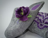 Women house felted slippers French Provence