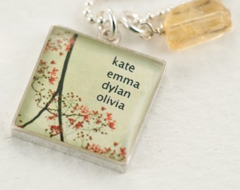 Personalized Name Necklace | Orange Blossoms Sterling Silver Necklace