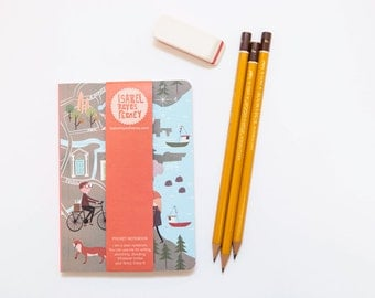 Notebook - Notebook 112pages -  Map - Note-book - Pocket Notebook