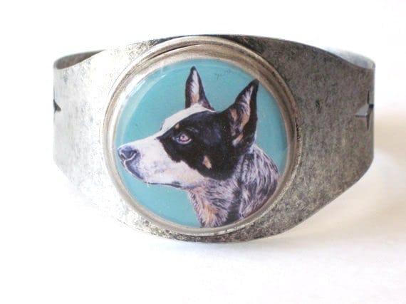 Australian Cattle Dog original wearable art bracelet