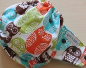 One Size All in One (AIO)Cloth Diaper - fits 10-35 lbs,  Hoot ( aqua bamboo velour)