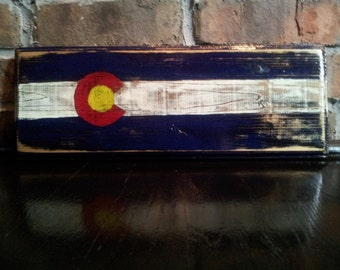 Handcrafted Colorado Flag with optional key hooks