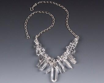 Crystal Quartz Icicle Necklace