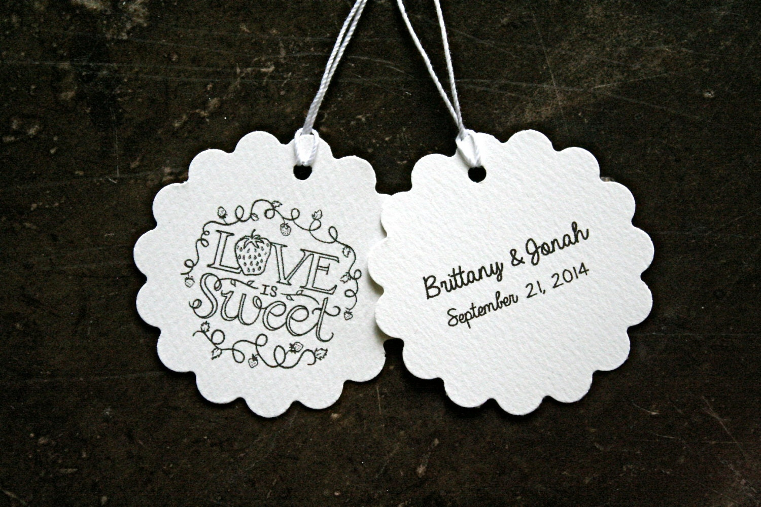 Personalised Wedding Gift Tags : Personalized wedding favor tags gift tags 50. Love is Sweet