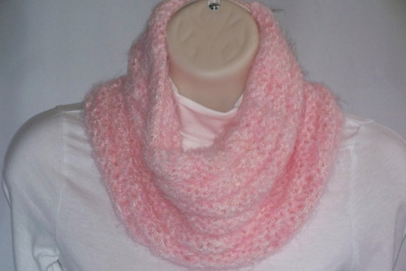 Neck Cowl Scarf , Ultra Soft,  Pink, Cowl