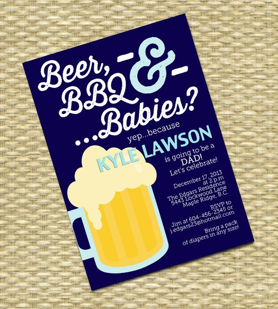 beer and diaper party invitation man shower daddy shower, Party invitations