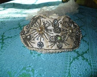 bridal, vintage, rhinestones, 1920's