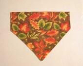 Fall Pet Bandana  Leaves Medium