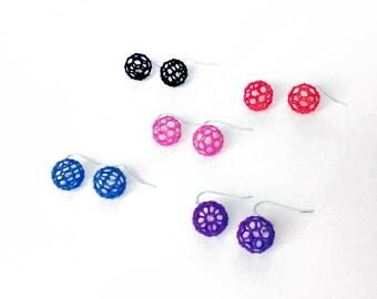 Mini Buckyball Chemistry Molecule Earrings