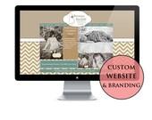 Custom Website & Logo, website, web design, custom website, photography website, blog, event website, design, webpage, ecommerce, branding
