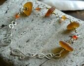 Light Amber Sea Glass Bracelet