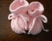 Custom Knit Baby Booties - Stay-on Baby Booties - Choose Your Color - Choose Your Size