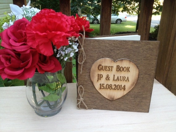 Wedding Guest Book - Distressed Guest Book - Rustic Wedding Guest Book - Bride and Groom Guest Book - Shabby Wedding Decor