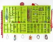 Green Jewelry Organizer  Display