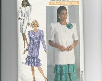 Sewing Pattern Butterick 4156 Design by David Warren for Dress, Tuunic and Skirt, Sz 8-10-12, 1980s