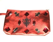 Wristlet Red  Clutch Handbag Purse Bag
