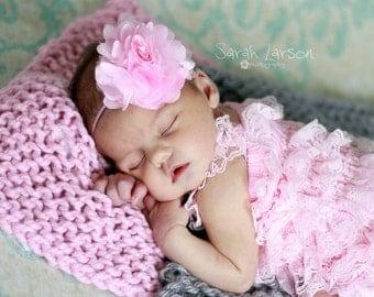 baby girls pink headband..girls pink headband..pink headband..newborn pink headband