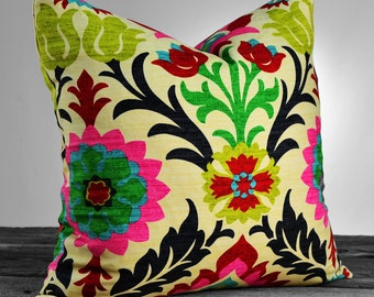 Floral Throw Pillow - Santa Maria Desert Flower Decorative Throw Pillow - SAME FABRIC Both Sides - Pick Your Size