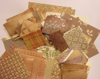 assortment of scrap booking paper, 50-140 mm