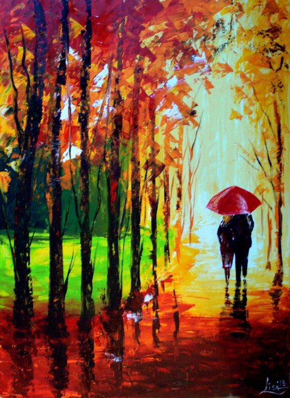 Original Painting 35 X 26 A Couple With By Artonlinegallery