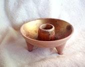 Vintage Redwing  M1505 tripod  ceramic candleholder pinkish light brown