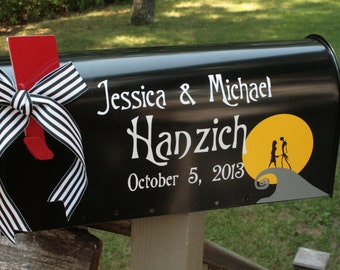 Wedding Mailbox - Custom and Fun - Nightmare Before Christmas