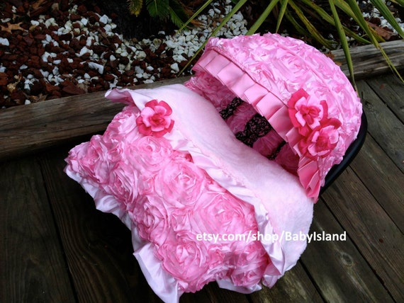 Baby Girl Infant Car Seats: Baby Car Seat Cover Canopy Blanket Infant Car Seat By