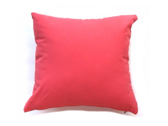 Solid Coral Throw Pillows : Items similar to Coral Throw Pillow Cover. Pillow Cover- Coral Solid Pillow- Coral Accent Pillow ...