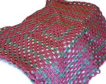 Baby Blanket, Crochet Baby Afghan,  Red Blanket, Crochet Blanket, Rose Blanket, Granny Baby Blanket, Red Afghan, Granny Square Afghan