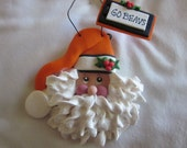HANDMADE & PERSONALIZED Clay Christmas Ornament of the Oregon State Santa