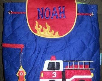 Backpack, Fire truck,  Stephen Joseph, FREE personalization
