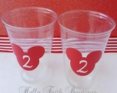 Set of 24 - Mickey Mouse Party Cups, Minnie Mouse Party Cups, Minnie Mouse Birthday, Minnie Party, Mickey Mouse Party, Disney Party