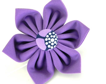 Purple Dog Collar Flower; Collar Accessory: Amethyst Blossoms