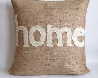 Home Burlap Pillow Cover