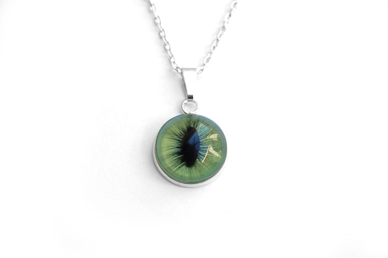 taxidermy cat s eye collar necklace cat eye by shophexafauna