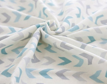 Chevron Cotton Double Gauze - Blue - By the Yard 40185