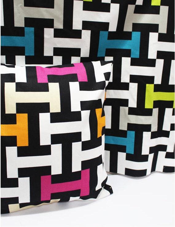 Modern letter i oxford cotton fabric northern europe style