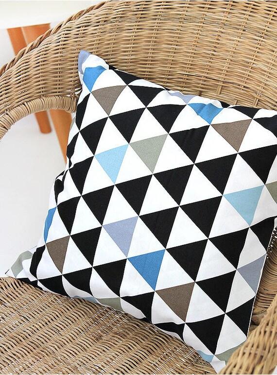 Tissu En Coton Oxford Contemporain Triangles Géométrique