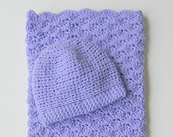 Lavender Baby Bunting And Hat Set Newborn Boy Pastel Purple Sleep Sack With Cap 0 To 6 Months  Infant Girl Lilac Bunting And Beanie