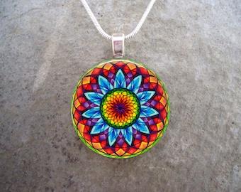 Celtic Jewelry - Glass Pendant Necklace - Celtic Decoration 22