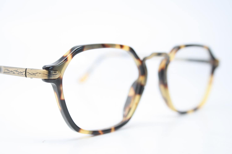 Eyeglass Frames Unique : Unique Vintage Bronze & Tortoise Octagonal Eyeglass Frames