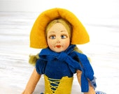 Vintage Norah Wellings Doll, Vintage Doll, Antique Doll, Old English Doll, Cloth Doll, Made in England, Novelties Line, Epsteam