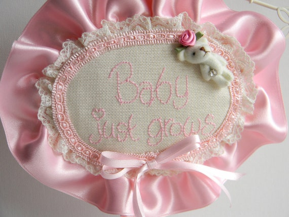 Baby just Grows ... Romantic Room Decor - Unique gift for Baby - Rustic Chic home ornaments